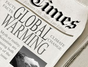 global warming newspaper wp